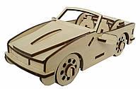 Деревянный 3D конструктор Shasheltoys Кабриолет 41 деталь (020302)
