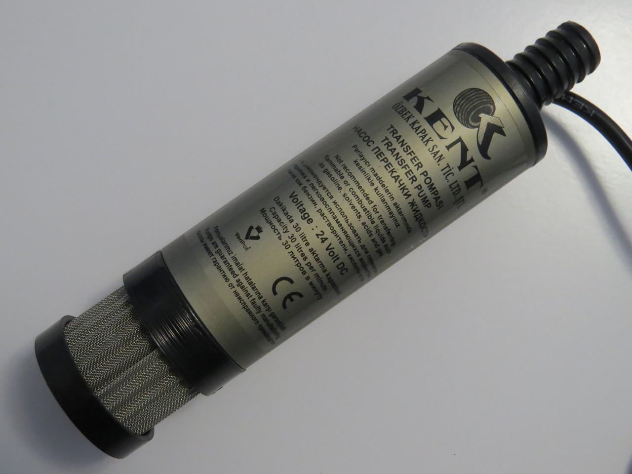 Топливоперекачивающий автомобильный насос Kent 24В с фильтром 40мм