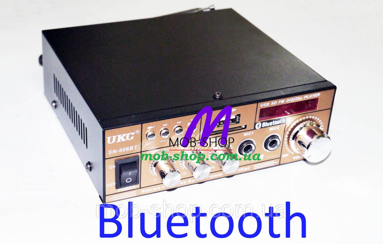 Усилитель звука UKC SN-606BT USB+SD+Bluetooth