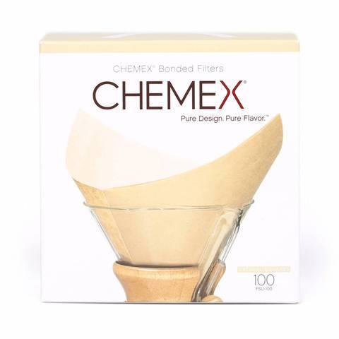 Фильтры Chemex для 6/8/10 чашек, натуральные бежевые 100 шт