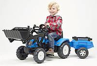 Landini трактор на педалі з причепом і ковшом