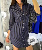 Женское платье- туника с принтом в расцветках, р-р 48-50. ВЕ-14-1-0219