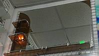 Зеркало фацетное 1000*750 мм коричневого цвета с полочками