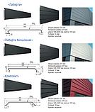 """Металеві фасадні панелі Термастіл """"Ліберті безшовна"""" PE глянець RAL 9006 0.45 мм, Китай, фото 2"""