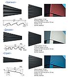 """Металеві фасадні панелі Термастіл """"Ліберті безшовна"""" PE глянець RAL 9006 0.45 мм, Китай, фото 3"""