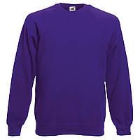 Реглан мужской однотонный 100% хлопок фиолетовый