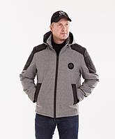 Куртки демисезонные мужские    удлиненная  48-58 серая