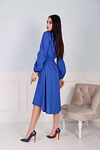 """Приталенное асимметричное платье """"LENTE"""" с карманами (3 цвета), фото 3"""