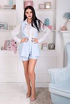 """Летний женский костюм """"Erika"""" мини-шорты и жилет (4 цвета), фото 2"""