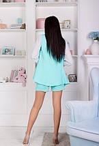 """Летний женский костюм """"Erika"""" мини-шорты и жилет (4 цвета), фото 3"""