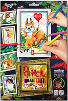 "Набор для творчества ""Картины карандашами по номерам"" ТМ Danko Toys"