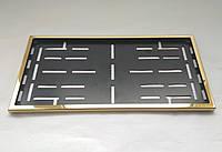 Номерная рамка для авто под американский номер (нержавейка золотая)