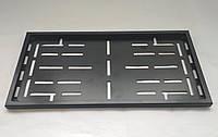 Номерная рамка для авто под американский номер (стальная черная матовая)