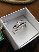 Серебряное кольцо Дорожка с камнями 17,5 р., фото 1