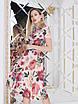 Пудровое цветочное Платье, фото 3