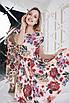 Пудровое цветочное Платье, фото 4
