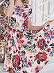 Пудровое цветочное Платье, фото 5
