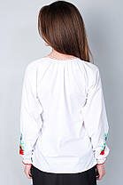 "Сорочка вышиванка ""Волошки"" белая KRAYKA, фото 2"