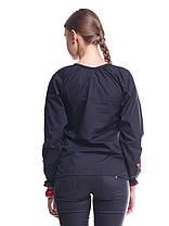 """Сорочка вышиванка """"Маки"""" черная KRAYKA, фото 3"""
