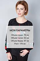 """Сорочка вышиванка """"Волошки"""" черная KRAYKA, фото 3"""