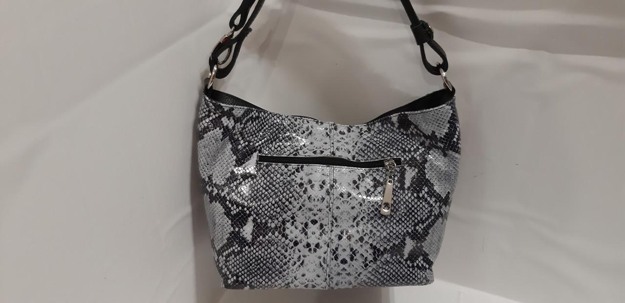 fa2d793b6e55 Женская кожаная сумка на длинном ремешке через плече на два отделения на  молнии, фото 2