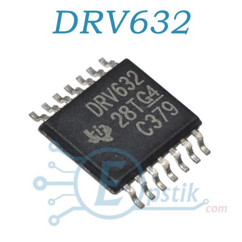 DRV632PW, аудио усилитель, TSSOP14