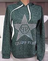 Батник с капюшоном/ звездой женский Philipp Plein (ангора-софт) S/42-44