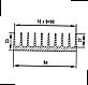 Радиаторный профиль 94х33. Длина детали 195мм, фото 4