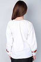 "Сорочка вышиванка ""Маки"" белая KRAYKA, фото 2"