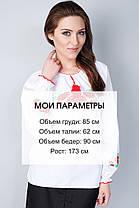 "Сорочка вышиванка ""Маки"" белая KRAYKA, фото 3"