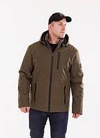 Куртка мужская весенняя   с капюшоном  48-58 хаки