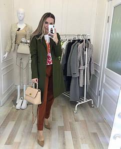 """Женское демисезонное кашемировое пальто """"VB"""" с карманами (5 цветов)"""