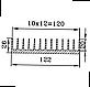 Радиаторный профиль 122х26. Длина детали 95мм, фото 4