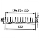 Радиаторный профиль 122х26. Длина детали 245мм, фото 4