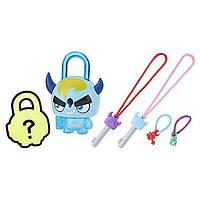 Замочки с секретом Lock Stars Basic Assortment Blue Horned Monster Series 1! Hasbro!