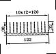 Радиаторный профиль 122х38. Длина детали 95мм, фото 3