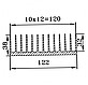 Радиаторный профиль 122х38. Длина детали 195мм, фото 3