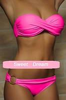 Новинка! Летний сексуальный женский модный купальник бикини, цвет - неоновый розовый