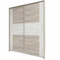 Шкаф распашной Сокме Милана 1800 183,3х231,6х62 дуб крафт белый/дуб крафт серый, фото 1