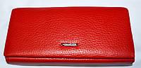 Женский красный кошелек Mario Dion из натуральной кожи на магните 19*10 см, фото 1