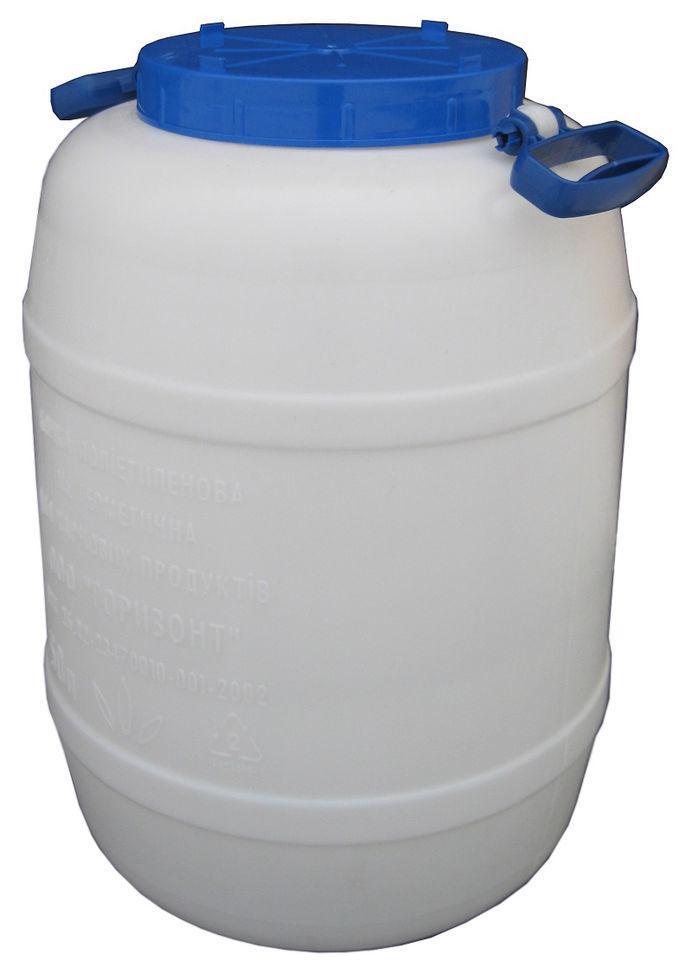 Бочка полиэтиленовая пищевая 50 литров без мембраны (Горизонт, Харьков)