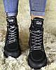 Черные высокие кроссовки женские осенние , фото 4