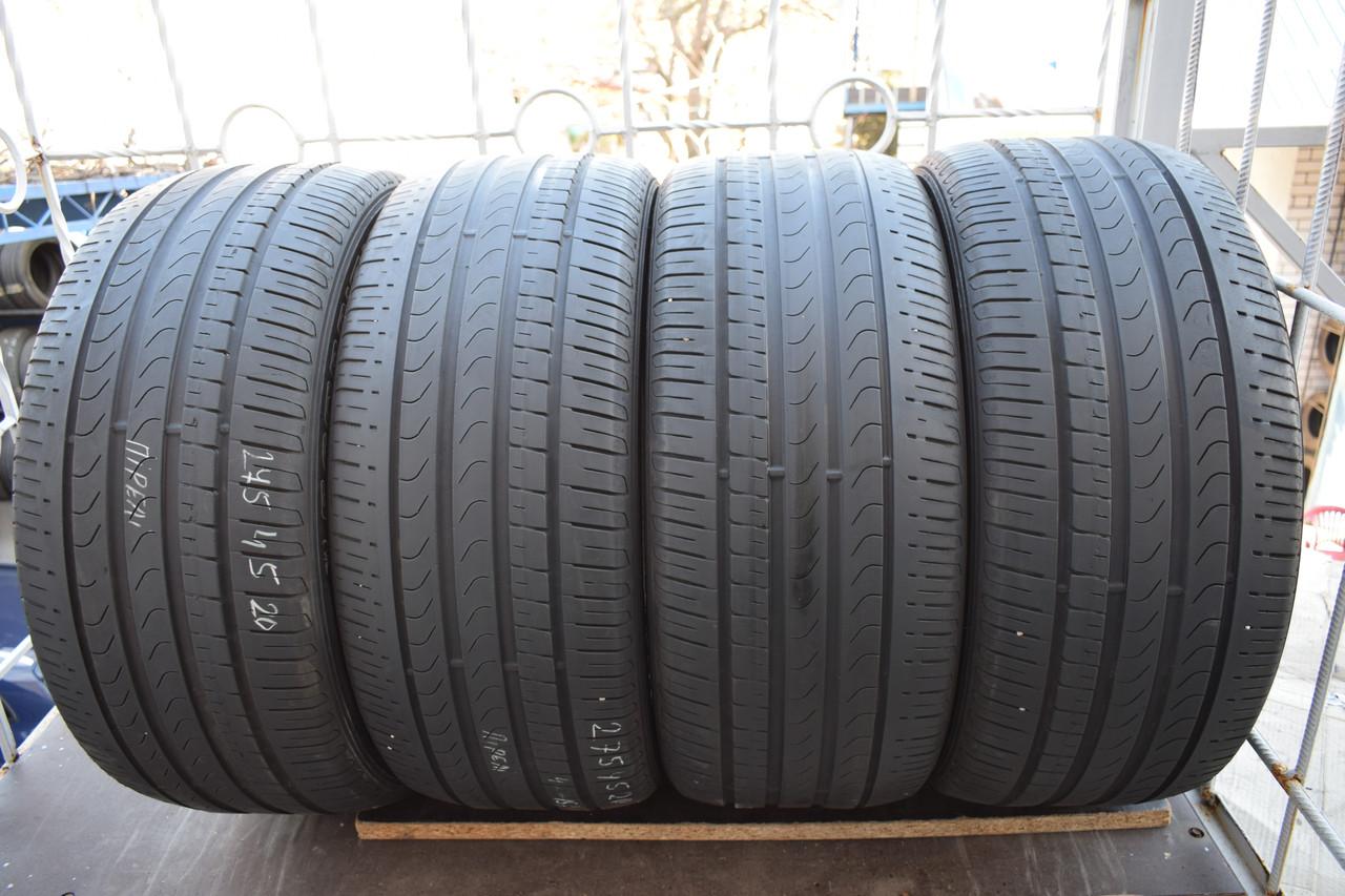 Літні шини б/у 275/45 R 20 Pirelli, комплект, 2015 р., 5 мм