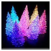 Новогодний LED светильник Елка 17 см