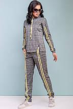 Женский костюм в клетку с лампасами (3193-3195-3196-3197 svt), фото 3