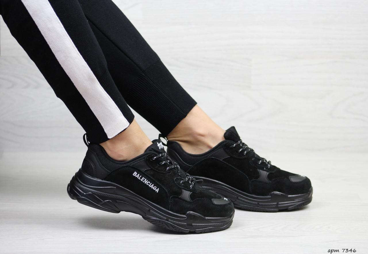 Женские кроссовки Balenciaga (Черные)