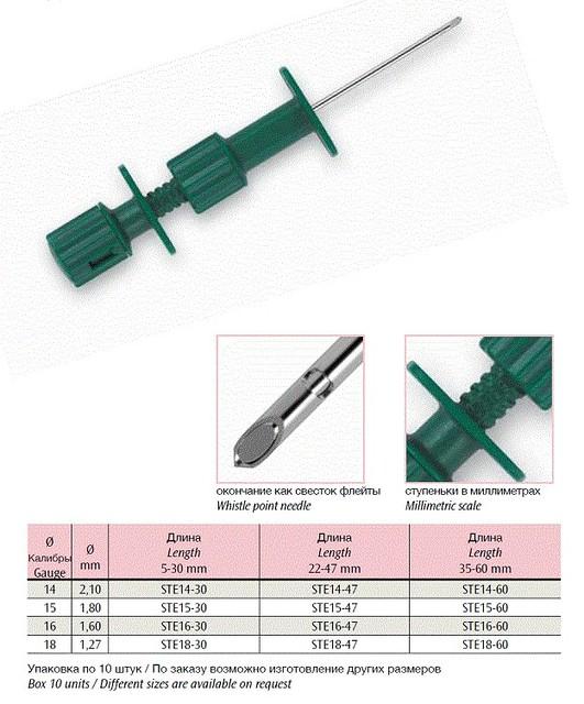 Голка для эксплантации кісткового мозку SELECTIVE Е (ZAMAR)