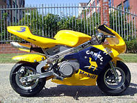 Мини спортбайк PОCKET BIKE детский мотоцикл бензиновый