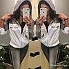 Легкая женская ветровка с капюшоном из плащевки, реплика Гуччи, норма и батал, фото 2