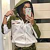 Легкая женская ветровка с капюшоном из плащевки, реплика Гуччи, норма и батал, фото 5